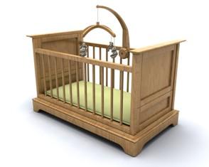 צעצוע תלוי מעל לול לתינוק